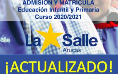 AVISO IMPORTANTE: : Admisión y matrícula INFANTIL Y PRIMARIA (2020-2021)